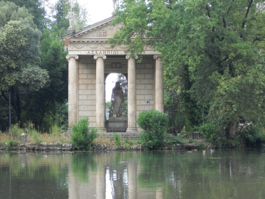 Temple of Aesculapius, Borghese Gardens, Rome, Italy