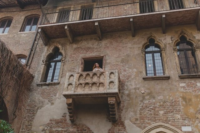 Juliet's Balcony - House of Juliet - Verona Italy