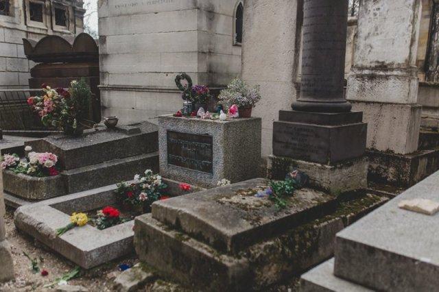 Jim Morrison Grave at Père Lachaise Cemetery in Paris France by Tami Keehn.