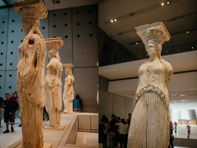 Statues at the museum of the Acropolis in Athens Greece by Tami Keehn