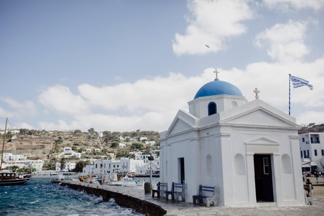 The old port in Mykonos Town, Greece by Tami Keehn