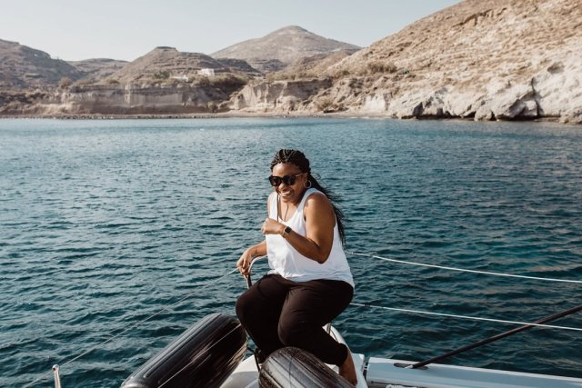 Spiridakos Sailing Cruises in Santorini Greece by Tami Keehn