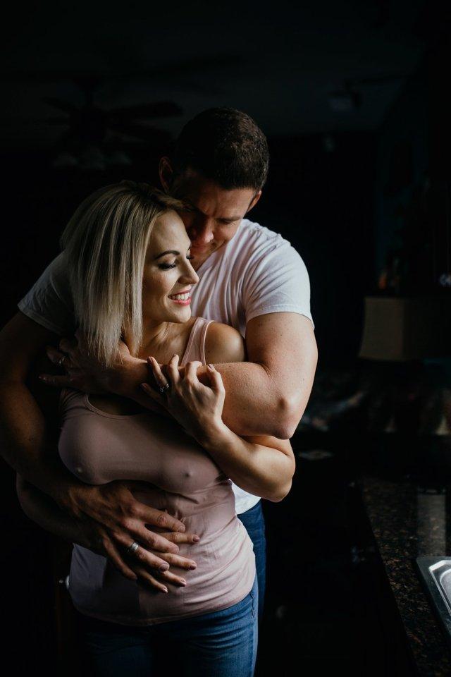 A sexy at-home couples boudoir photoshoot with Tampa photographer Tami Keehn.