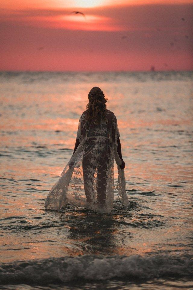 Outdoor Boudoir Photoshoot on St Pete Beach by Tampa Boudoir photographer - Tami Keehn.