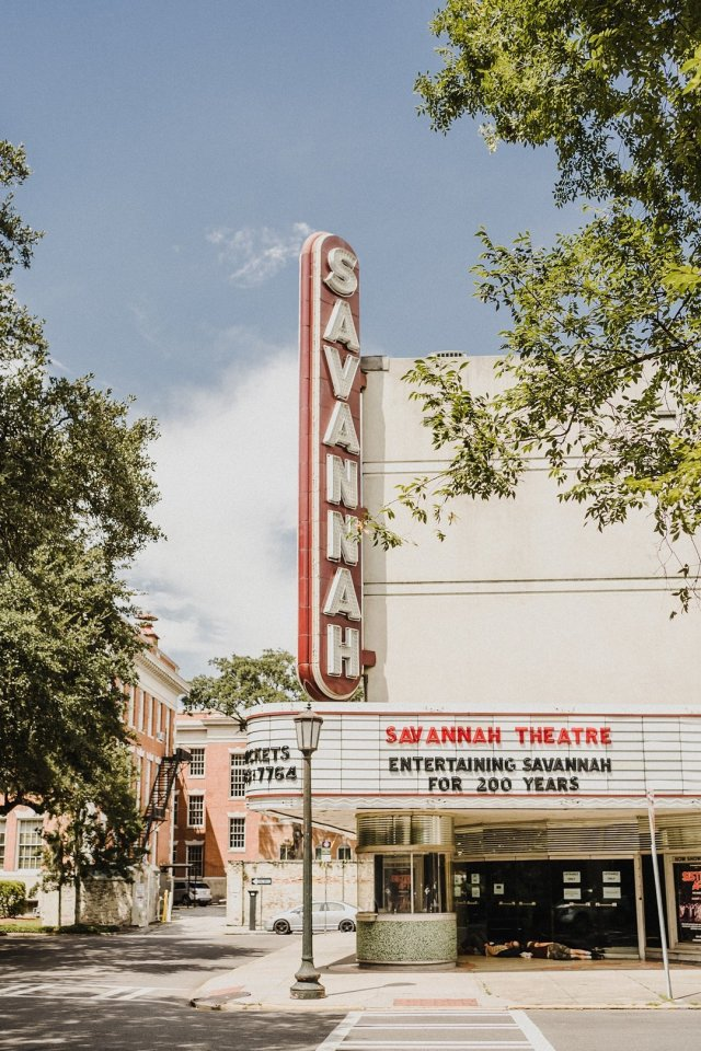 Outside view of the Savannah Theatre in Georgia by Tami Keehn.