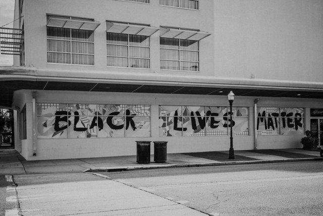 Black Lives Matter in downtown Savannah GA