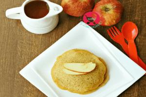 eggless wheat apple pan cake