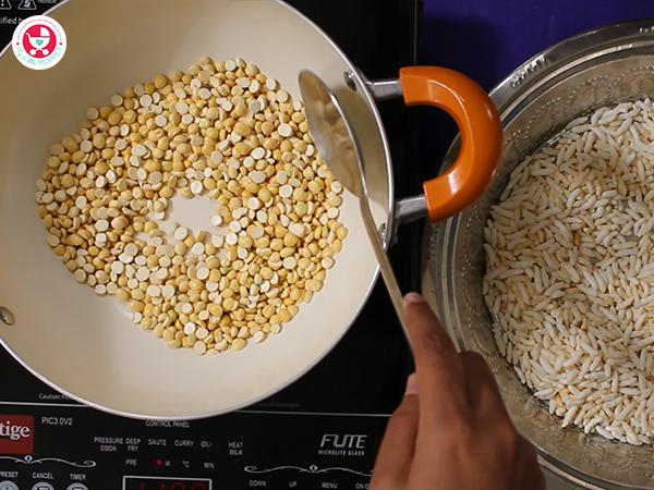 frying of Roasted gram