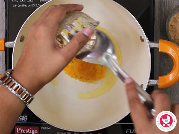 Add grated pumpkin