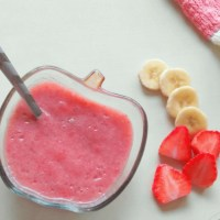 Strawberry Banana Puree for Babies in Tamil: