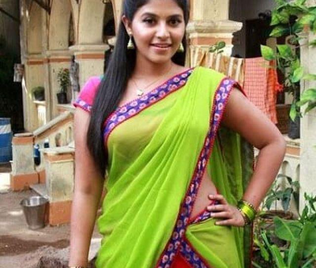Anjali Hot In Half Saree
