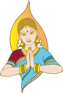 Tamil lady Welcoming