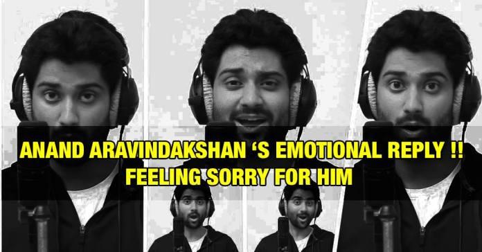 Anand Aravindakshan – Emotional Reply to Super Singer Issue