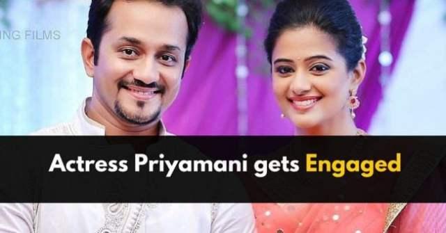 Actress Priyamani gets Engaged