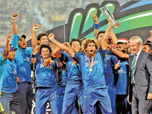 Sri Lankan cricket team in the World Championships final match Rolled India