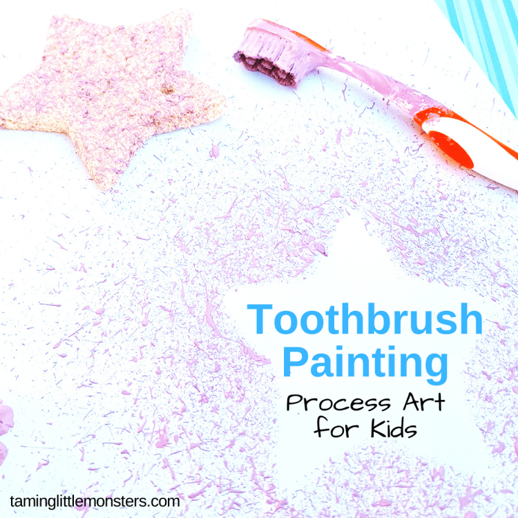 Toothbrush Painting Art Activity For Kids Taming Little Monsters