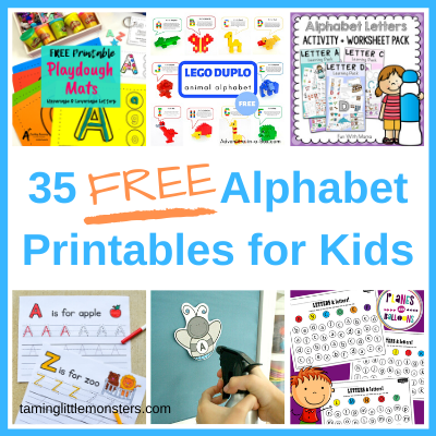 Free Alphabet Printables For Kids - Taming Little Monsters