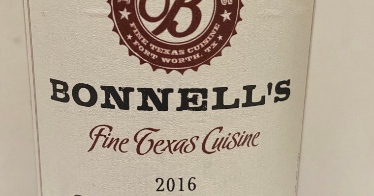 Wine of the Week-Bonnell's Cabernet Sauvignon
