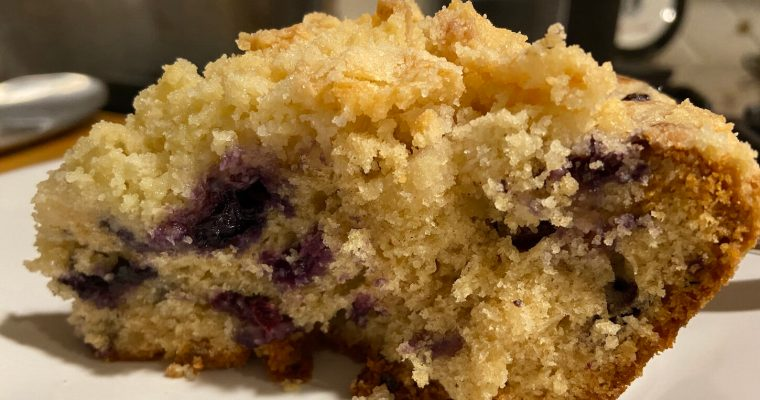Treat Tuesday-Blueberry-Ginger Crumb Cake