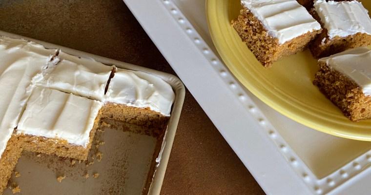 Treat Tuesday-Pumpkin Cake Bars