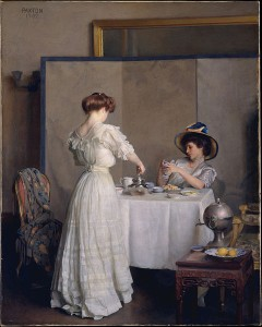 Women Having Tea Painting