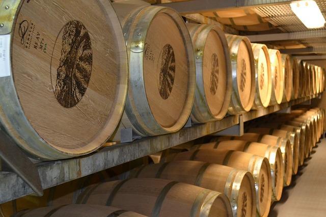 wine cellar barrels
