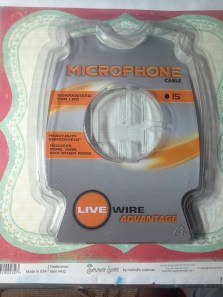 A microphone cable blister pack