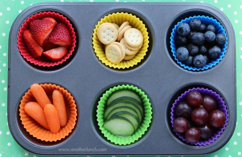 muffin-tin-rainbow-foods