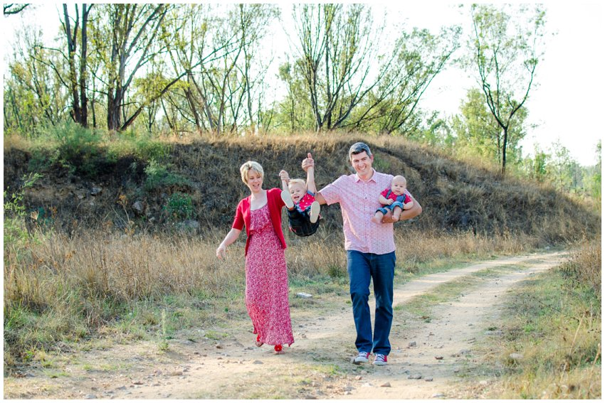Natural and Fun family photo shoot with a park theme in modderfontein nature reserve, Red and navy outfit ideas for a location photo shoot, storytelling
