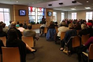 Tammy Lenski giving a keynote address