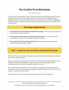 The Conflict Pivot Worksheet by Tammy Lenski