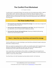 The Conflict Pivot Worksheet by Tammy Lenski