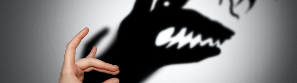 shadow puppet on the wall