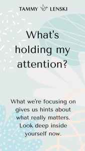 What's holding my attention?