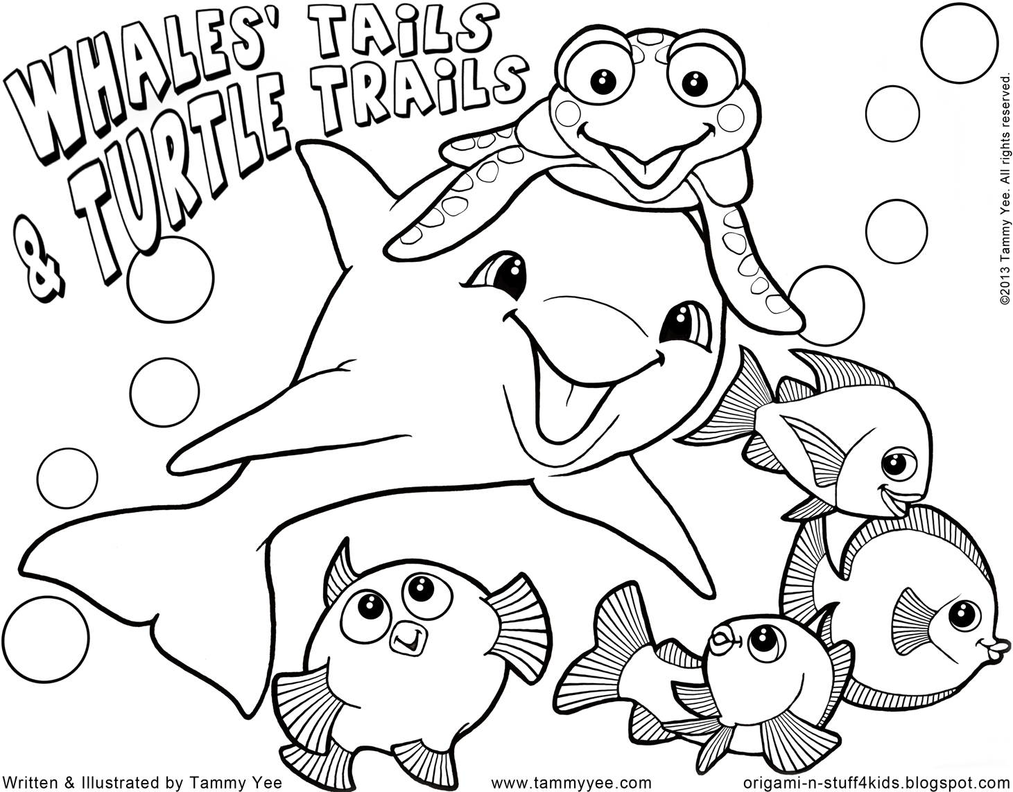 Origami N Stuff 4 Kids Coloring For Kids Whales Tails