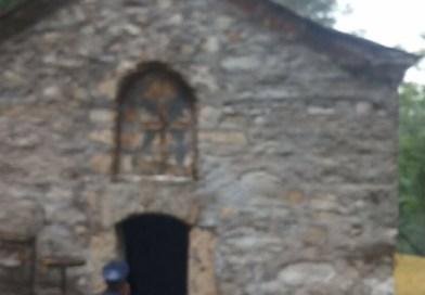 Оскрнављен српски храм у Броду на Космету