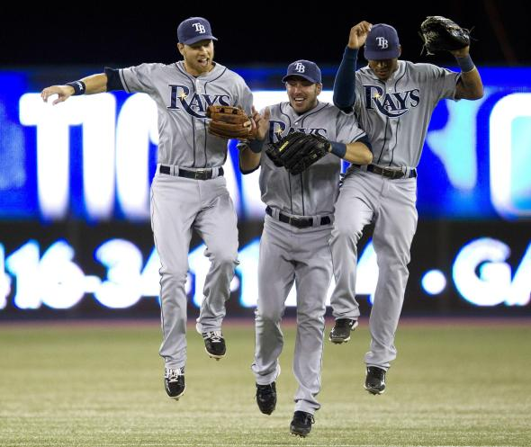 Perhaps someone should ask Nastradamus if this is what the Rays outfield will look like in 2013.