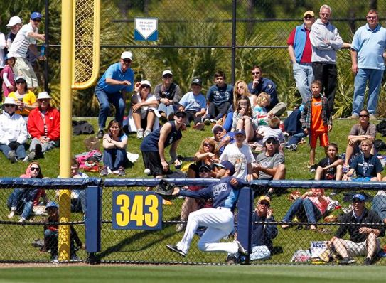 Fuld being Fuld in Port Charlotte Wednesday. (Photo courtesy of the Tampa Bay Times)