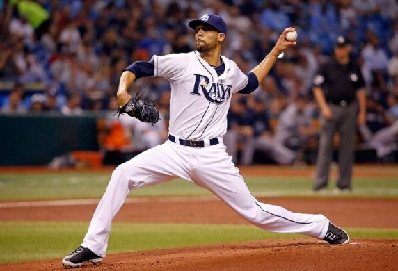 David Price pitching against the New York Yankees. (Photo by J. Meric/Getty Images)