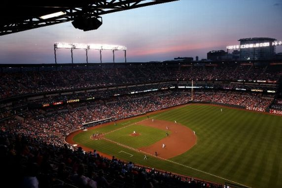 A general view during the third inning of the Baltimore Orioles and Tampa Bay Rays game at Oriole Park at Camden Yards in Baltimore, Maryland. I've just got to say, I absolutely love this stadium. (Photo courtesy of Rob Carr/Getty Images)