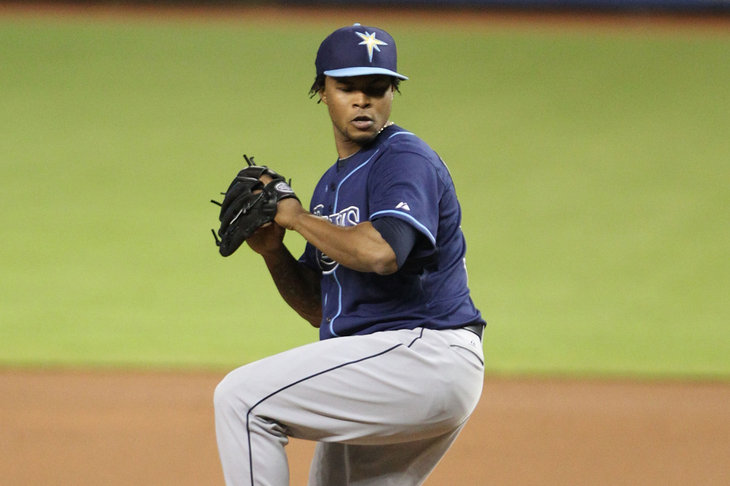 Tampa Bay Rays pitching prospect Alex Colome has been suspended for the first 50 games of the season for a positive steroids test.