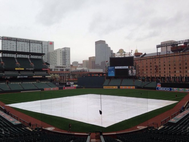 Take two. The Rays and Orioles will throw Jake Odorizzi and Miguel Gonzalez (respectively) on the mound Wednesday, following Tuesday's rainout. (Photo courtesy of Marc Topkin)