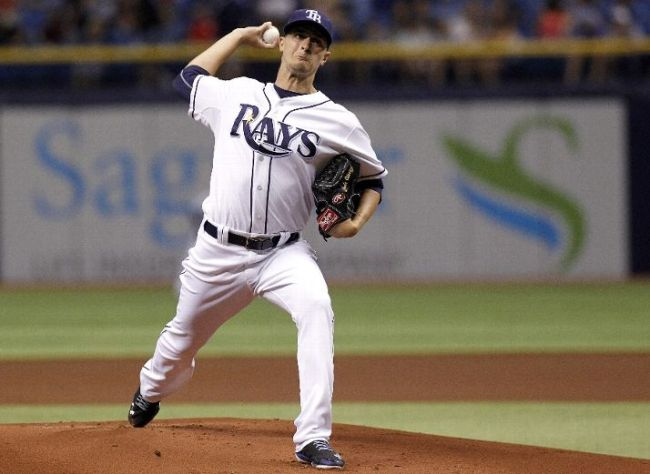 Jake Odorizzi pitches during the first inning against the Milwaukee Brewers. (Photo courtesy of Brian Blanco/Getty Images)