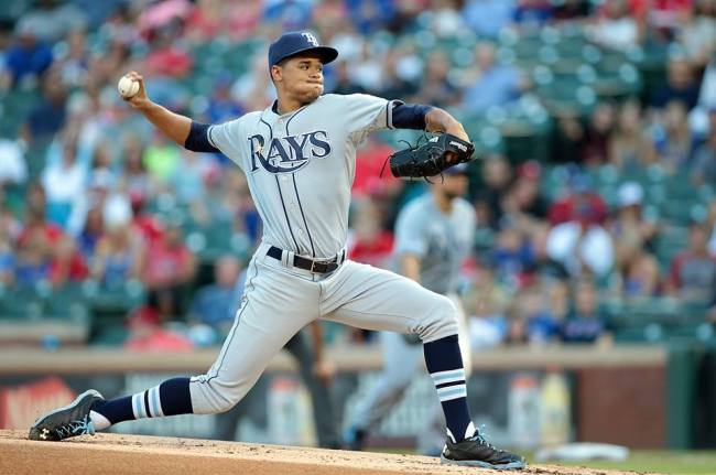 Chris Archer set a career high in strikeouts Wednesday night with 12. (Photo courtesy of the Tampa Bay Rays)