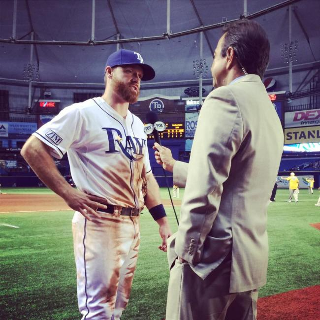 Logan Forsythe in a post game interview with Todd Kalas.