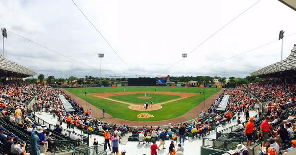It was a hot, humid and cloudy Friday in Sarasota, FL. (Photo courtesy of the Tampa Bay Rays)