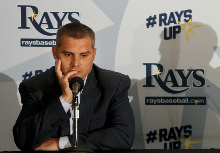 Rays manager Kevin Cash, during an end of season press conference Tuesday at Tropicana Field. (Photo Credit: Dirk Shadd/Tampa Bay Times)