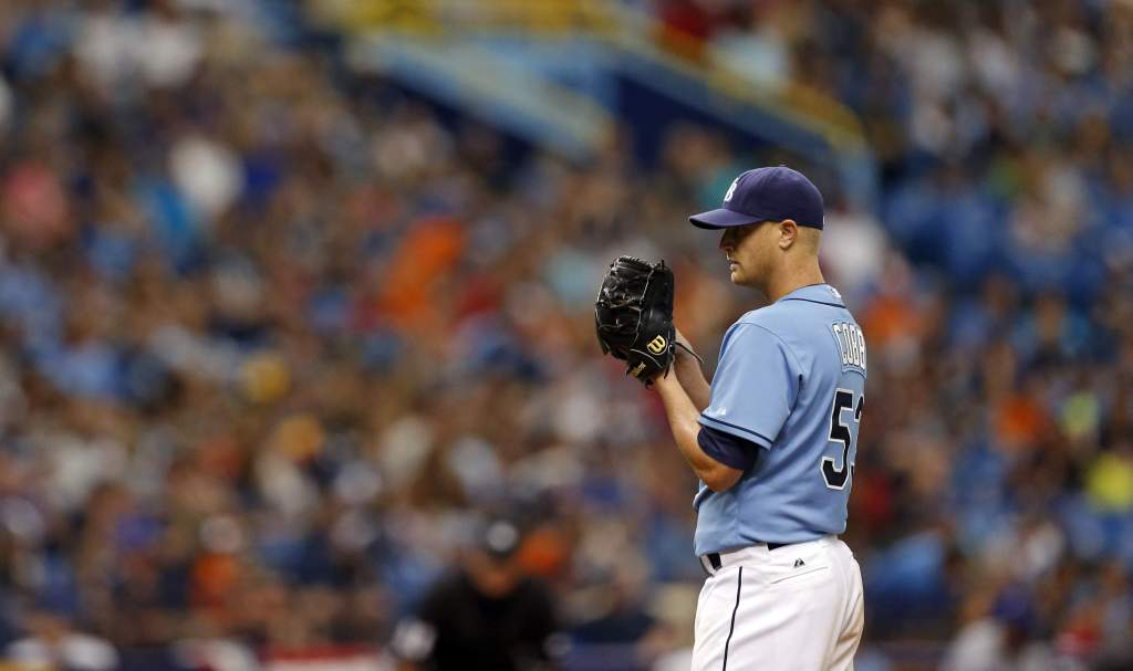 Alex Cobb emerged as a legitimate trade candidate late Monday night. (Photo Credit: TBO.com)