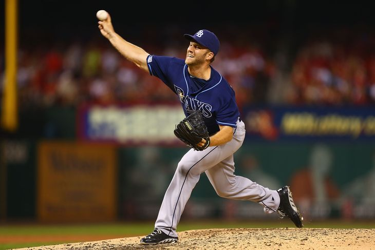 Brad Boxberger pitching in relief last season. (Photo Credit: Philip Vishwanat/Getty Images)