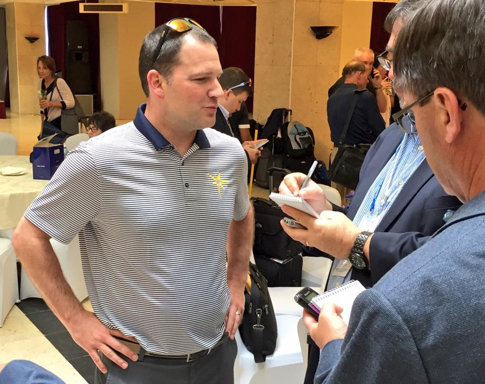 Rays officials, including Brian Auld (pictured), were among the first to land in Havana on Sunday. (Photo Credit: Tampa Bay Rays)